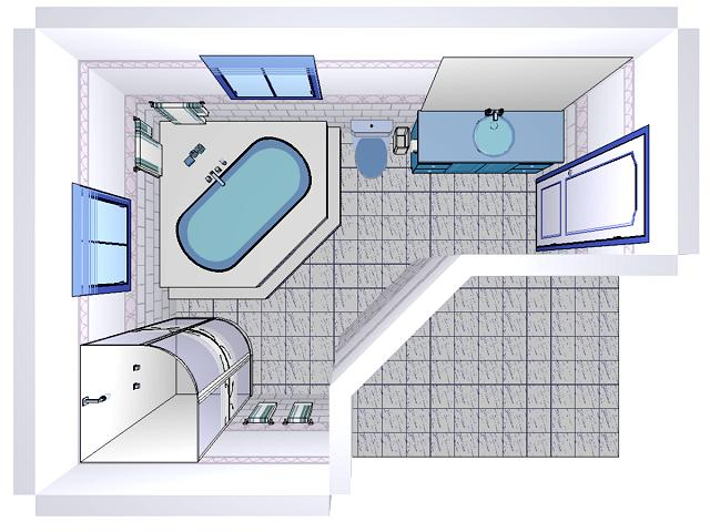 Decotech pro gallery normal 3d perspectives bathroom for 3d bathroom drawing